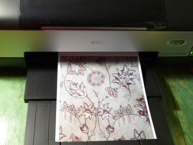 Printing onto transfer paper